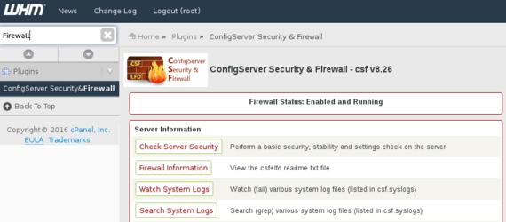 ConfigServer Firewall
